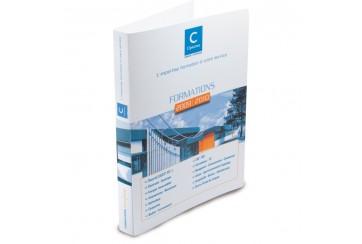 Classeur blanc personnalisable en polypropylene