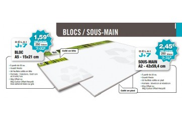 Sous main 90 g offset