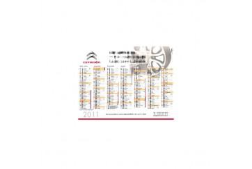Calendrier de poche et/ou Carte de Visite Cyclus
