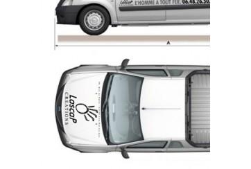 Maquette Découpe Vectorielle (véhicule, vitrine)