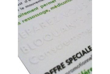 Cartes imprimées avec Gaufrage