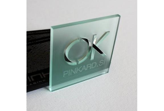Cartes 'Verre' Acrylique 3mm