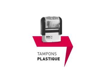 Tampons Plastique - Logo et Texte.