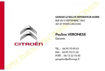 Cartes de Visite Citroën