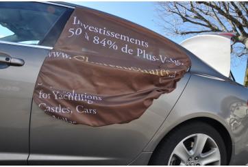 Affichage automobile évènementiel / Enfilable / Pop-Up car advert