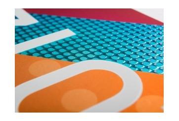 500 cartes de visite Papier métallisé + vernis séléctif 3D