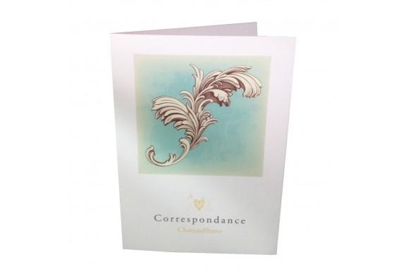 100 Cartes de voeux / Correspondance, papier texturé (création) 2 volets
